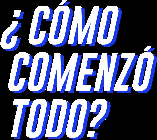 Cómo comenzó Azul Centenario, imagen letras